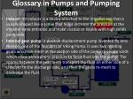 glossary in pumps and pumping system13