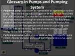 glossary in pumps and pumping system17