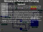 glossary in pumps and pumping system9