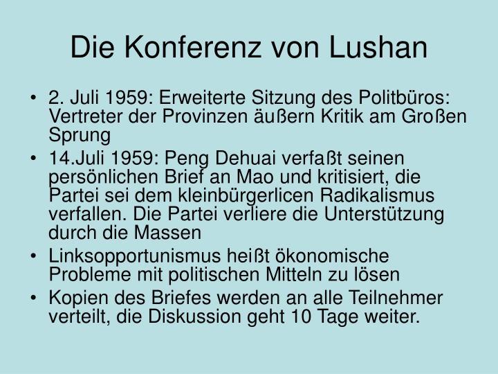 Die Konferenz von Lushan