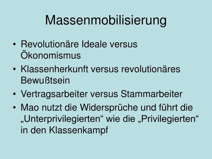Massenmobilisierung