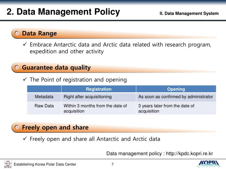 2. Data Management Policy