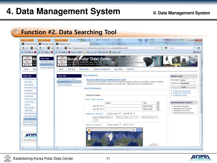 4. Data Management System