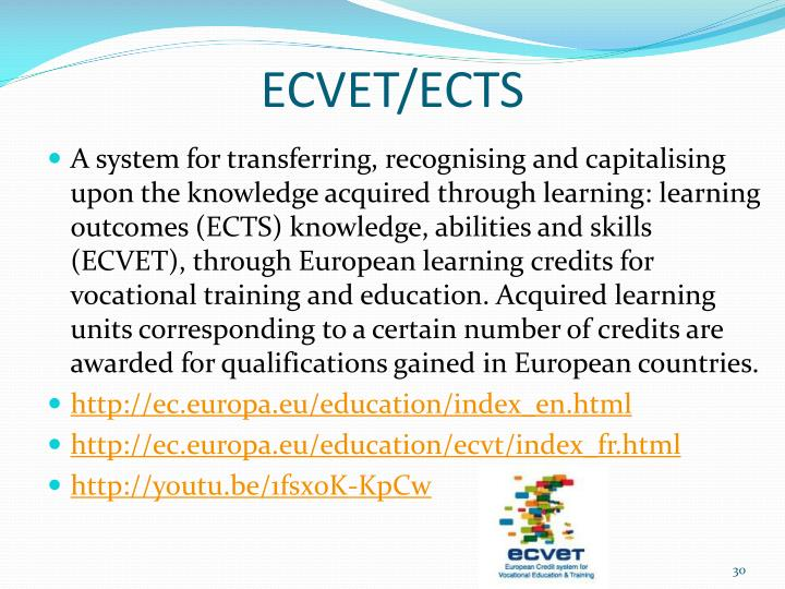 ECVET/ECTS