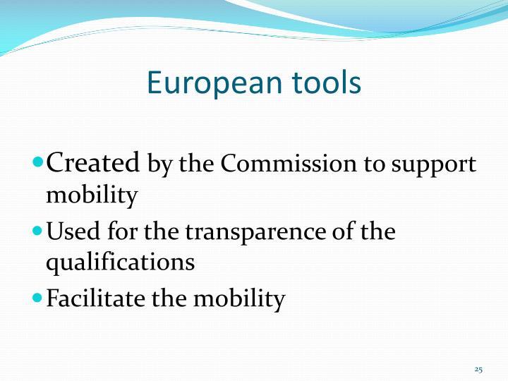 European tools