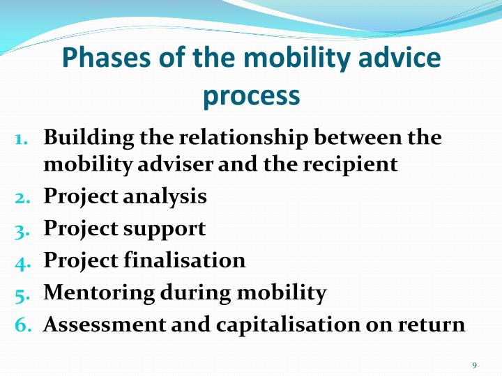 Phases of the mobility advice process