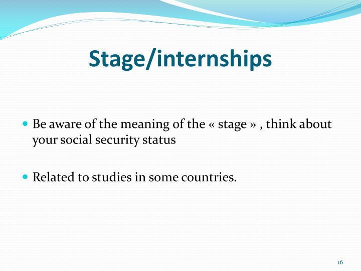 Stage/internships