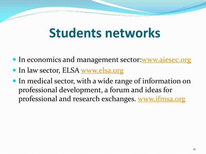 Students networks
