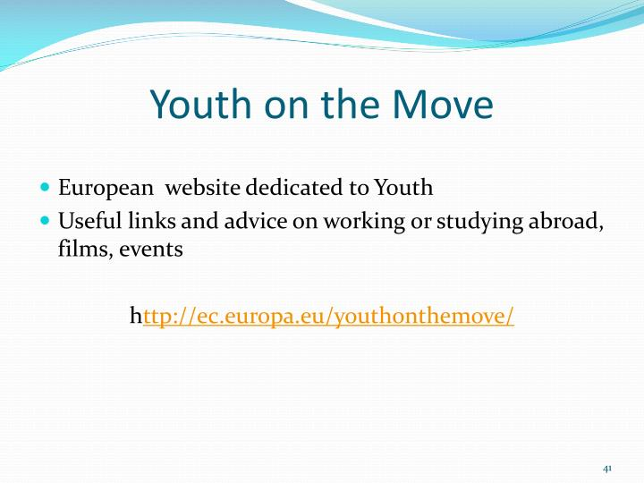 Youth on the Move