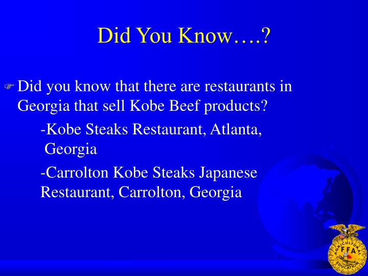Did You Know….?
