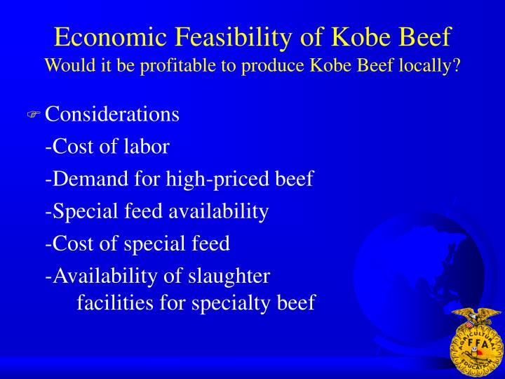 Economic Feasibility of Kobe Beef