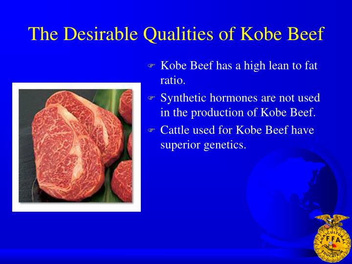 The Desirable Qualities of Kobe Beef