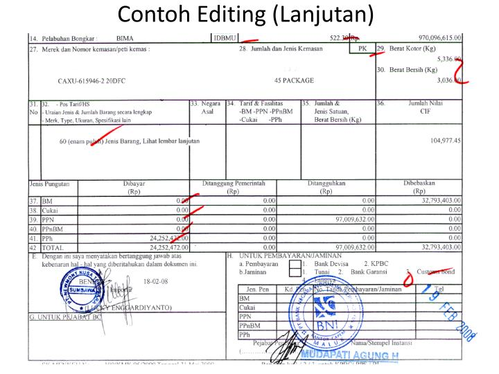 Contoh Editing (Lanjutan)