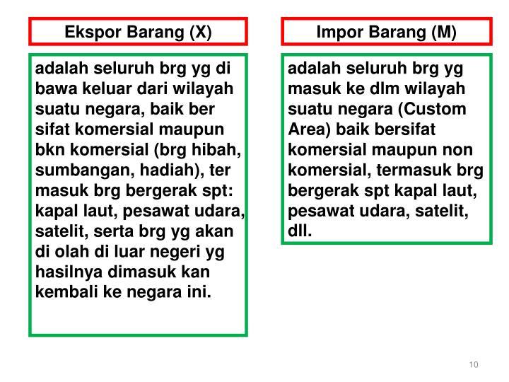 Ekspor Barang (X)