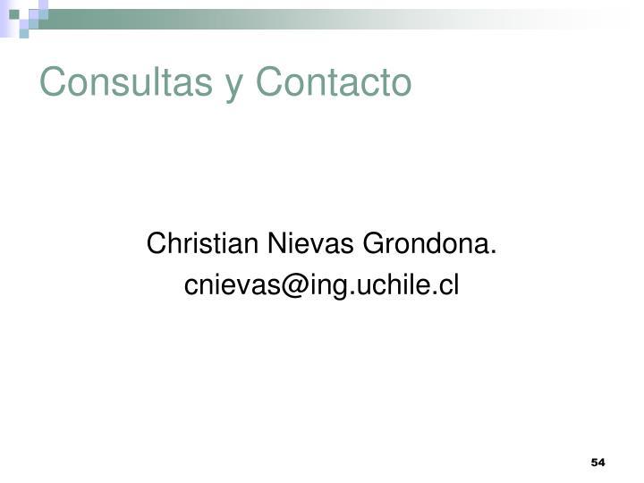 Consultas y Contacto