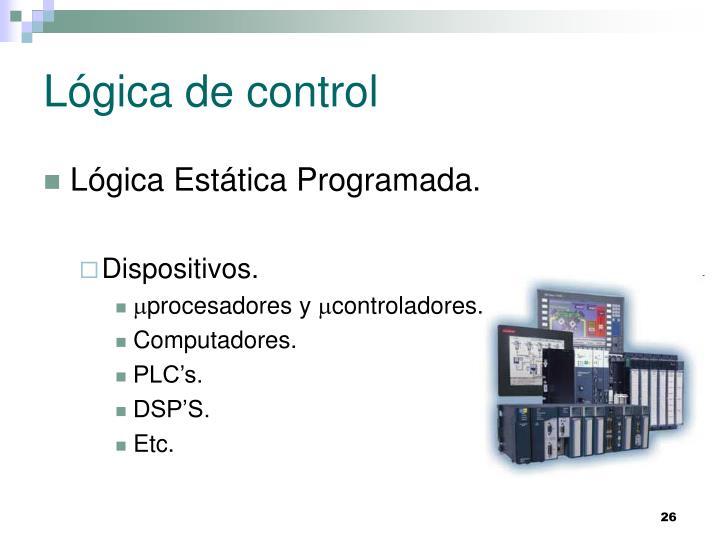 Lógica de control