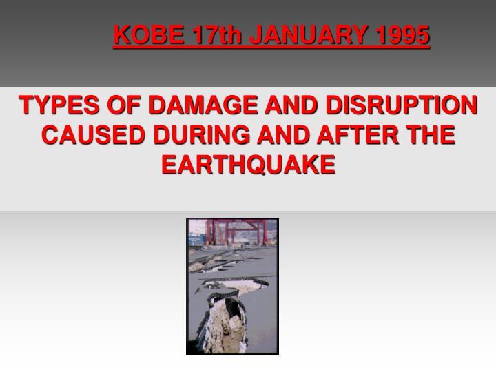 KOBE 17th JANUARY 1995