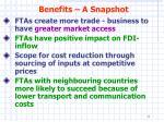 benefits a snapshot