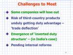 challenges to meet