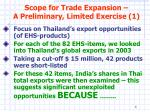 scope for trade expansion a preliminary limited exercise 1