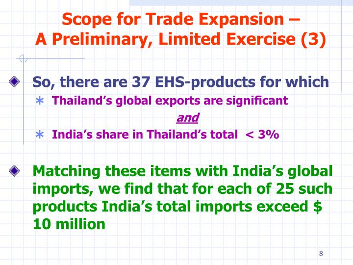 Scope for Trade Expansion –