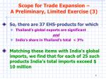 scope for trade expansion a preliminary limited exercise 3