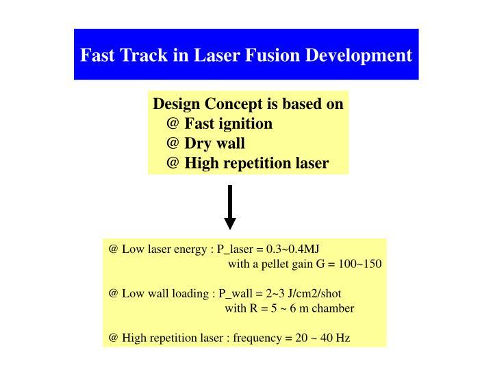 Fast Track in Laser Fusion Development
