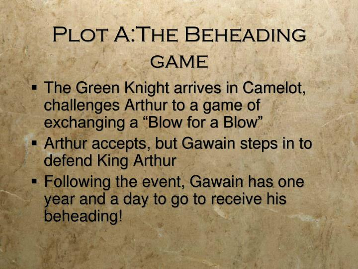 Plot A:The Beheading game