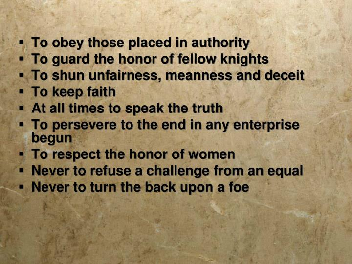 To obey those placed in authority