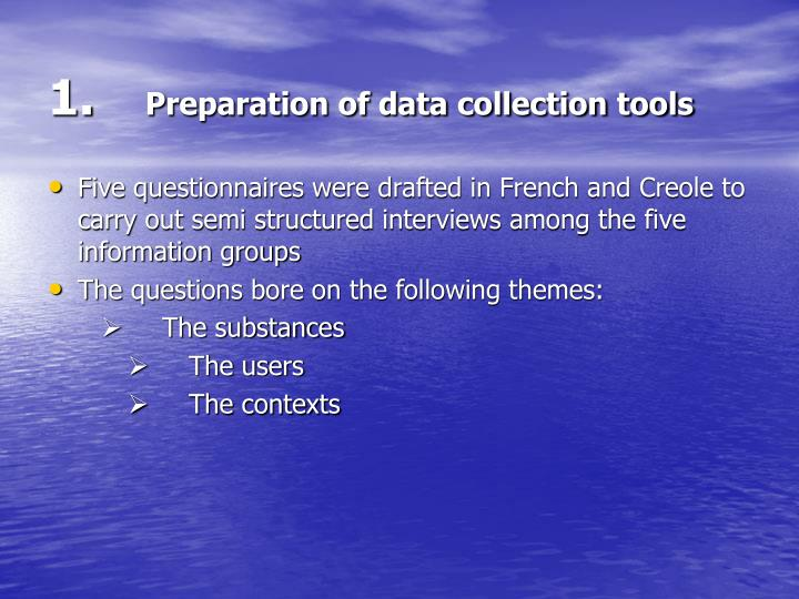 1 preparation of data collection tools