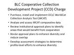blc cooperative collection development project ccd charge