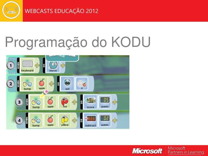 Programação do KODU
