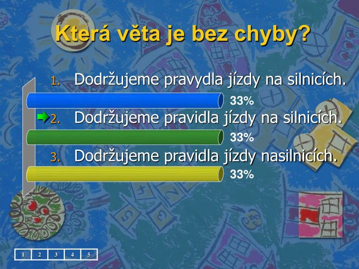 Která věta je bez chyby?