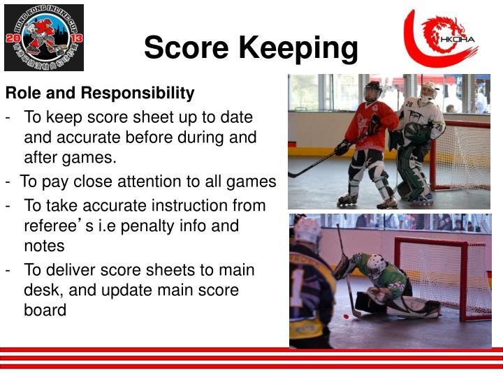Score Keeping