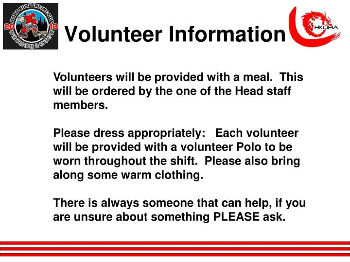 Volunteer Information