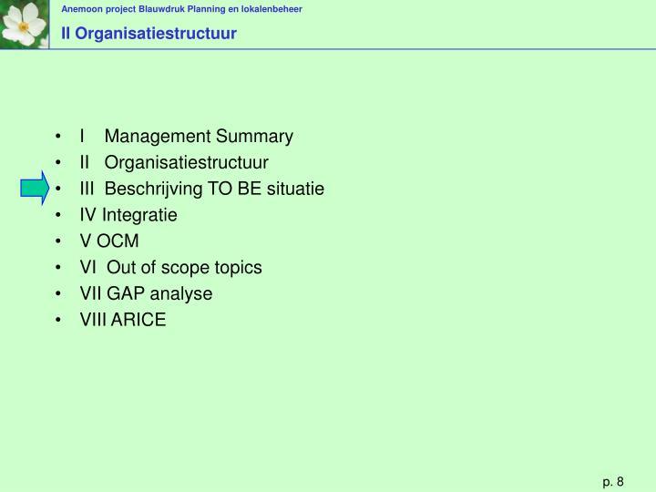 II Organisatiestructuur