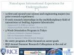 nanojapan international experience for undergraduates