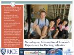 nanojapan international research experience for undergraduates