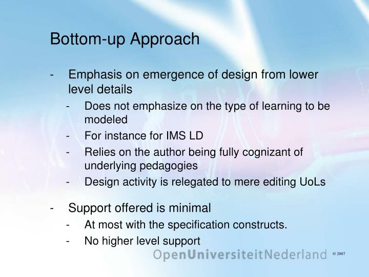 Bottom-up Approach