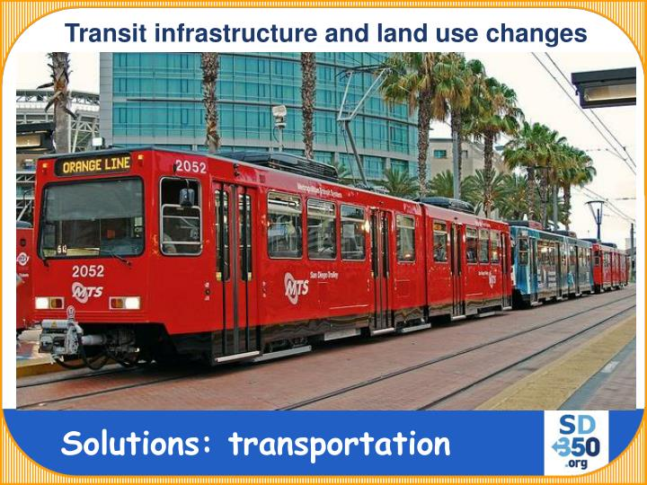Transit infrastructure and land use changes