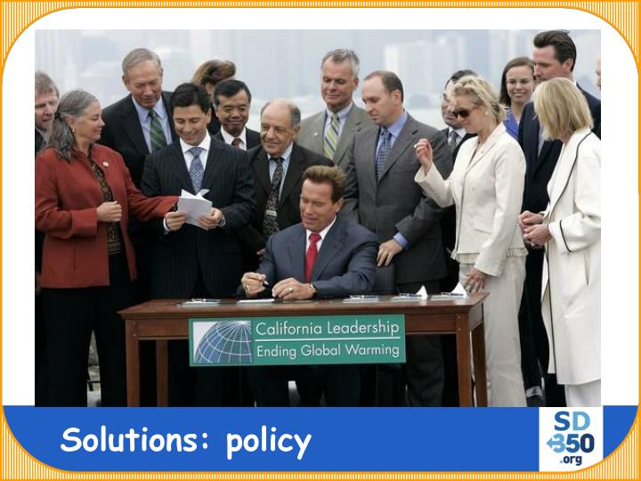 Solutions: policy