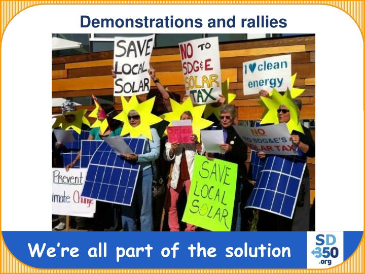 Demonstrations and rallies