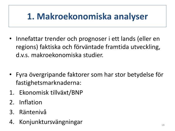 1. Makroekonomiska analyser