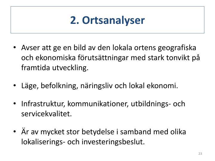 2. Ortsanalyser