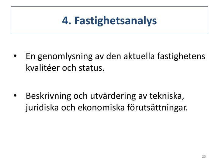 4. Fastighetsanalys