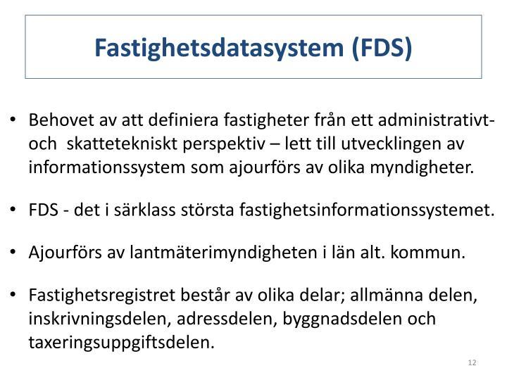 Fastighetsdatasystem (FDS)