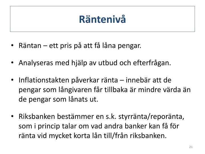 Räntenivå