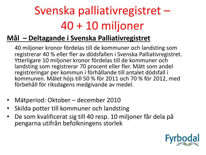Svenska palliativregistret –