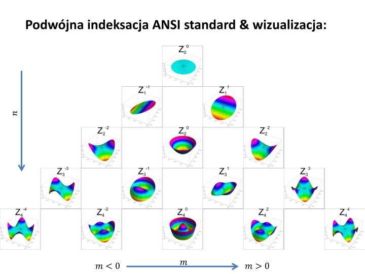 Podwójna indeksacja ANSI standard & wizualizacja: