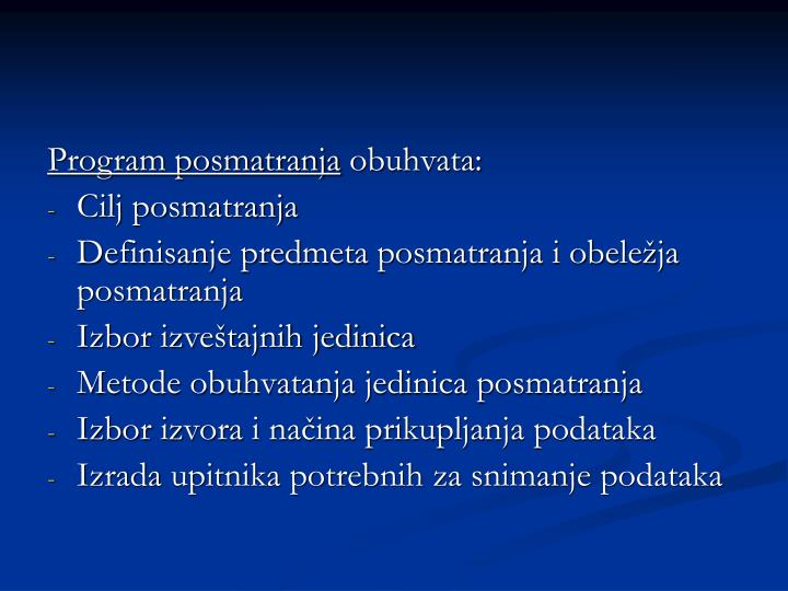 Program posmatranja